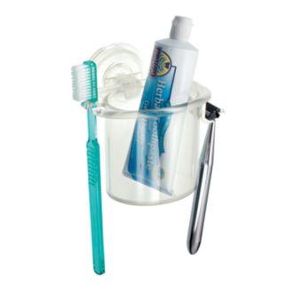 interDesign PowerLock Suction Razor and Toothbrush Center