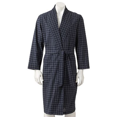 Croft and Barrow Plaid Woven Robe