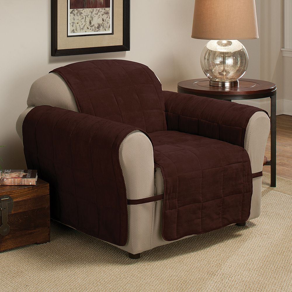 Jeffrey Home Ultimate Quilted Faux-Suede Chair Furniture Protector