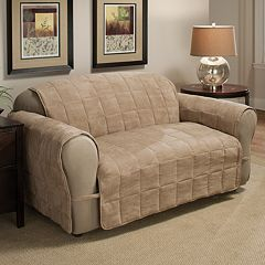 Jeffrey Home Ultimate Quilted Faux-Suede Loveseat Furniture Protector