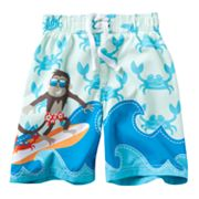 Jumping Beans Monkey Surf Swim Trunks - Toddler