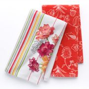 Croft and Barrow 2-pk. Flower Kitchen Towels
