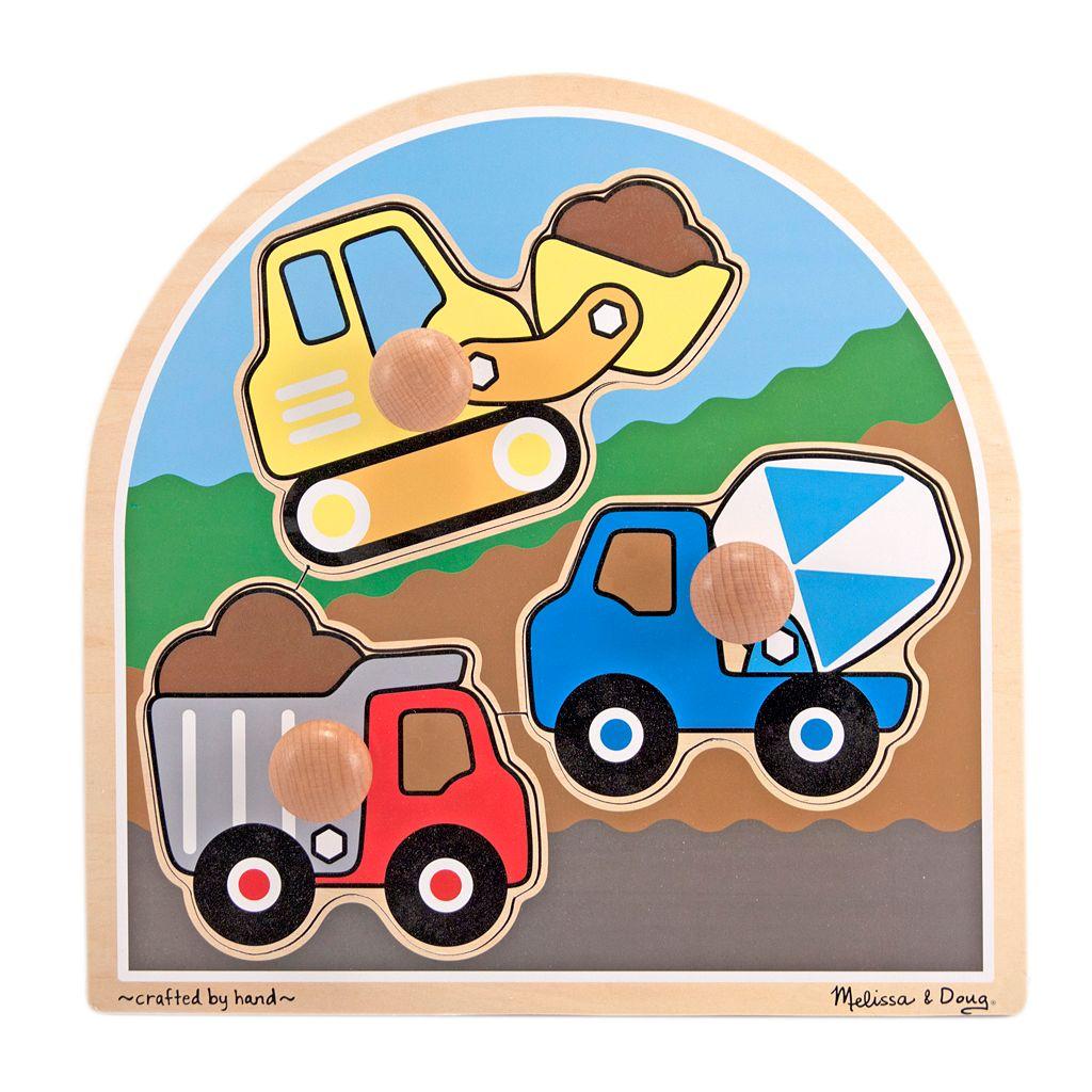 Melissa & Doug Construction Site Jumbo Knob Puzzle