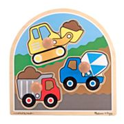 Melissa and Doug Construction Site Jumbo Knob Puzzle