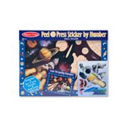 Melissa and Doug Space Mission Peel & Press Sticker by Numbers