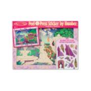 Melissa & Doug Fairytale Princess Peel & Press Sticker by Numbers