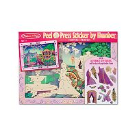 Melissa & Doug Fairytale Princess Peel & Press Sticker by Numbers