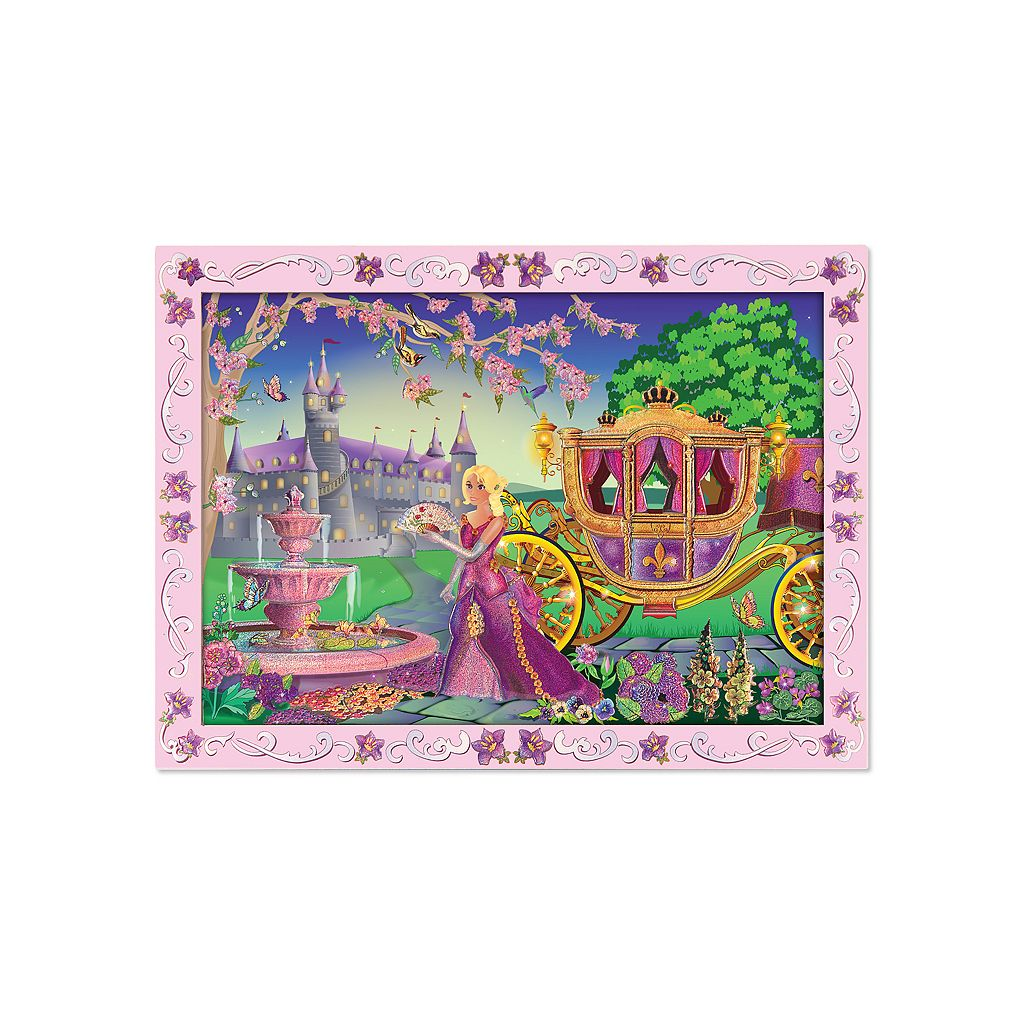 Melissa and Doug Fairytale Princess Peel & Press Sticker by Numbers