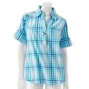 Cathy Daniels Plaid Polo