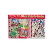 Melissa and Doug Flower Garden Fairy Peel and Press Sticker by Numbers