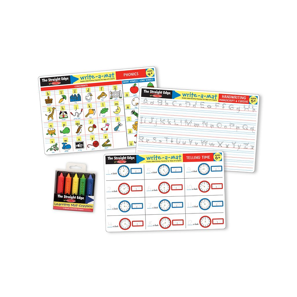 Melissa & Doug Basic Skills Learning Mats Set