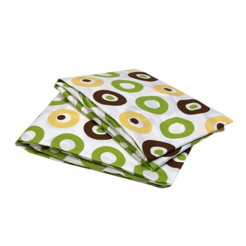 Bacati Mod Dots and Stripes Fitted Crib Sheet