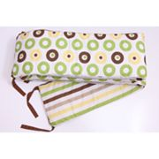 Bacati Mod Dots and Stripes Crib Bumper