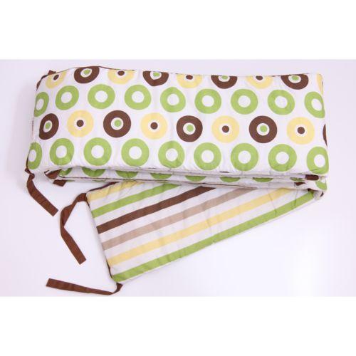 Bacati Mod Dots and Stripes Crib Bumper