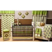 Bacati 10-pc. Mod Dots and Stripes Crib Set