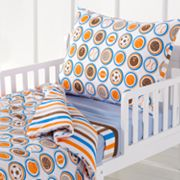 Bacati 4-pc. Mod Sports Toddler Bedding Set