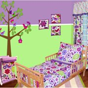 Bacati 4-pc. Botanical Sanctuary Toddler Bedding Set