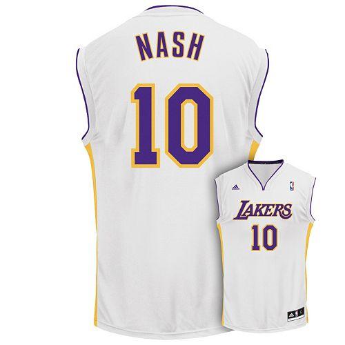 adidas Los Angeles Lakers Steve Nash Jersey - Men 6ca9f0859
