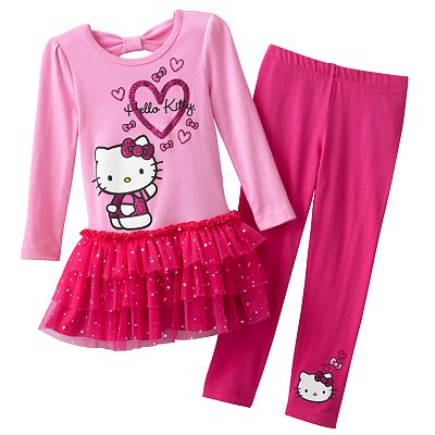 Hello Kitty Heart Top and Leggings Set - Toddler
