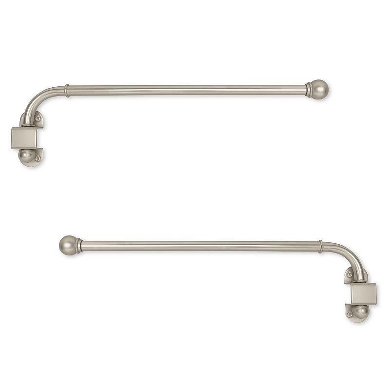 swing arm adjustable curtain rods