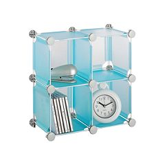 Neu Home Frosted 4 pkStackable Storage Cubes