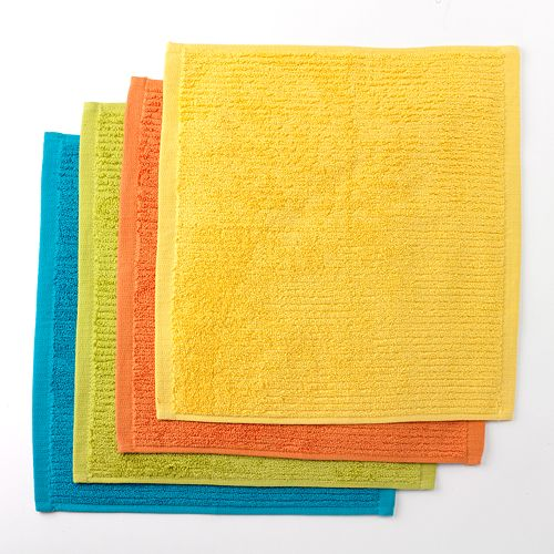 Food Network™ Solid 4-pk. Bar Mop Dishcloths