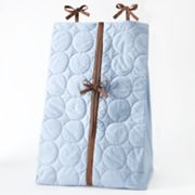 Bacati Quilted Blue and Chocolate Circles Diaper Stacker
