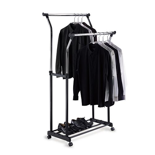 Neu Home Double Adjustable Garment Rack