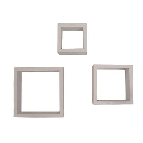Neu Home 3-pc  Wall Cube Shelf Set