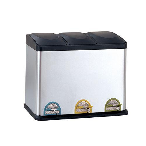 Neu Home 45-liter Step Recycle Bin & Trash Can