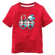 Jumping Beans Dog in Car Applique Tee - Baby