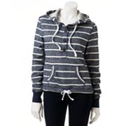 SO Striped Henley Hoodie - Juniors