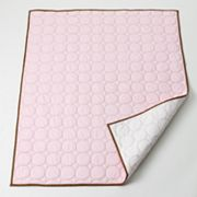 Bacati Metro Pink Quilted Throw Blanket