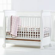 Bacati 4-pc. Quilted Pink and Chocolate Circles Crib Set