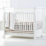 Bacati 4-pc. Quilted White and Chocolate Circles Crib Set