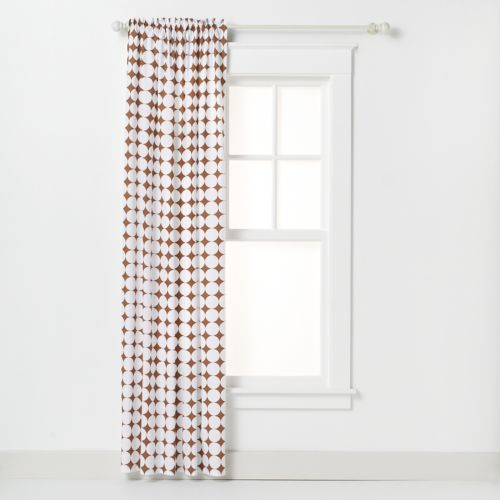 Bacati Quilted White and Chocolate Circles Curtain Panel