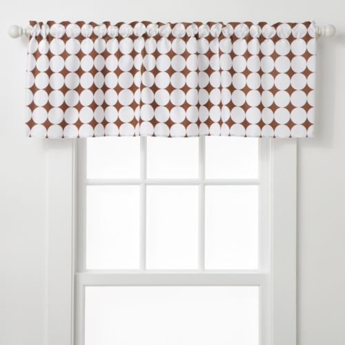 Bacati Quilted White and Chocolate Circles Valance