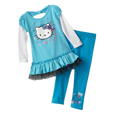 Hello Kitty Bow Tutu Tunic and Leggings Set - Toddler