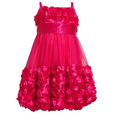 Bonnie Jean Floral Mesh Bubble Dress - Girls 7-16