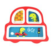 Jumping Beans Melamine Dinosaur Car Divided Plate