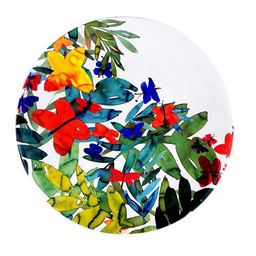 SONOMA Goods for Life™ Butterfly & Leaf Melamine Dinner Plate