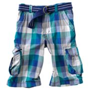Urban Pipeline Buffalo Plaid Messenger Cargo Shorts - Boys 8-20