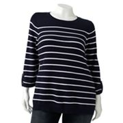 Croft and Barrow Striped Sweater - Women's Plus