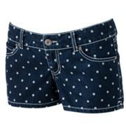 SO Polka-Dot Shortie Shorts - Juniors