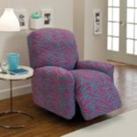 Madison Zebra Jersey Stretch Recliner Slipcover
