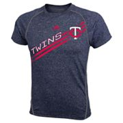 adidas Minnesota Twins Heathered Performance Top - Boys 8-20