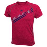 adidas St. Louis Cardinals Heathered Performance Top - Boys 8-20