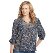 Chaps Floral Chiffon Blouse - Women's Plus
