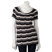 Dana Buchman Striped Textured Top