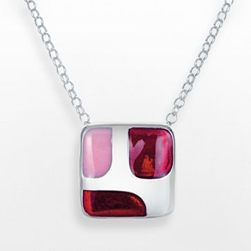 Sterling Silver Square Pendant